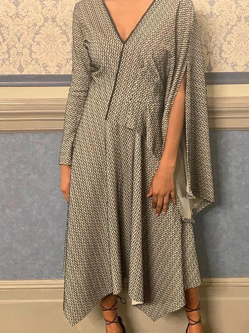 A-Symmetrical Handkerchief Dress