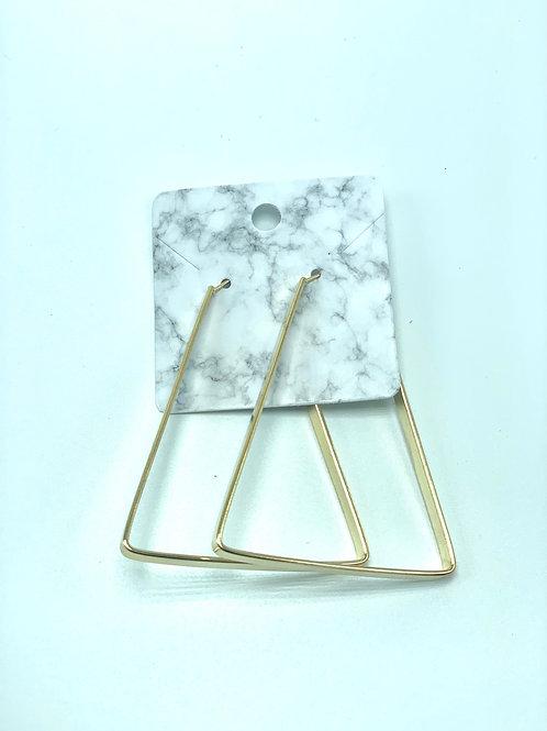 Aurelie Créoles Triangulaires D'or