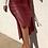 Thumbnail: Faux Leather Midi Skirt