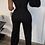 Thumbnail: Oblique Shoulder Wide Leg Jumpsuit