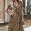 Thumbnail: Cheetah Print Ruffled Midi Dress