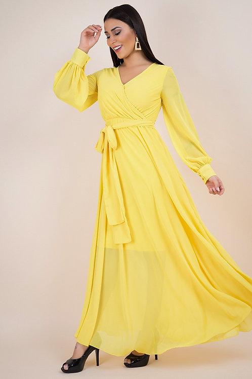 Chiffon Spliced Maxi Dress