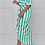 Thumbnail: Off-the-Shoulder Stripped High-Low Midi