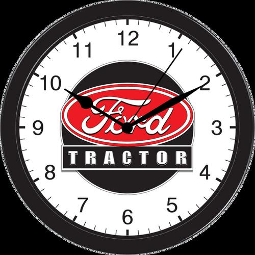 Ford Farm Garden Tractor Equipment Large Black Wall Clock