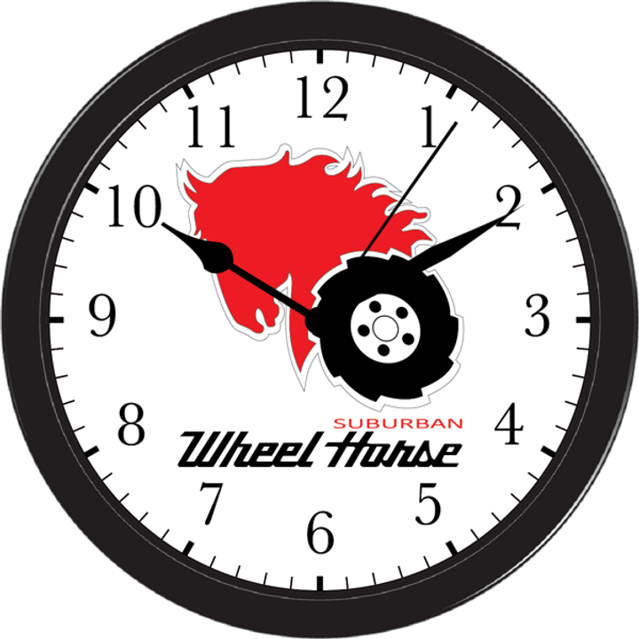 Wheel Horse Wall Clock Large10 Quot Frame Garden Tractor