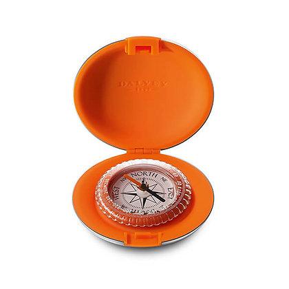 Modern Orange Pocket Compass