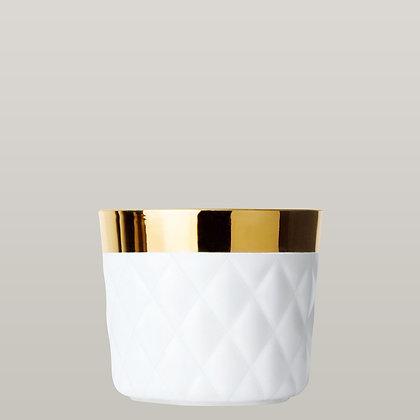 White Gold Champagne Goblets