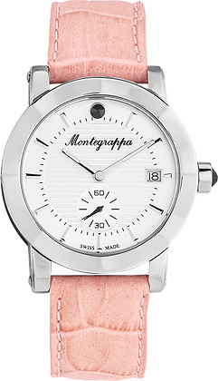 Nero Uno Ladies Leather Watch - Silver Dial