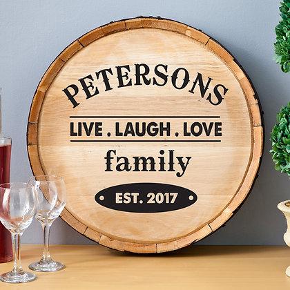 Customizable Oak Wine Plaque