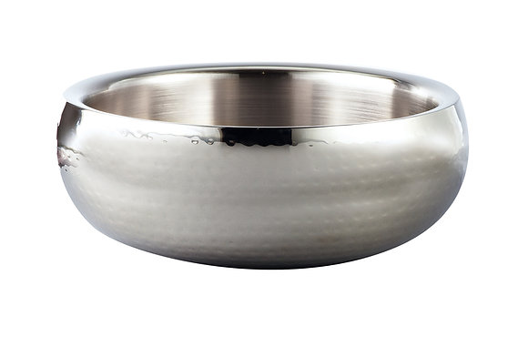 Double-Wall Hammered Bowl Set