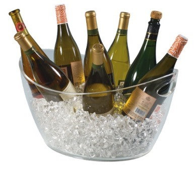 Deluxe Acrylic Grand Oval Wine Champagne Cooler