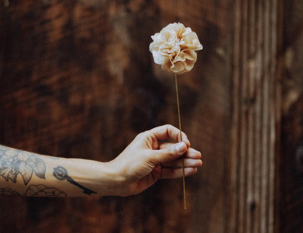 Tutoriel fabrication fleur rose infusion