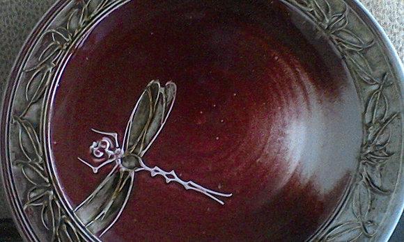 Decorative Dragon Green-Red-White Serving Platter