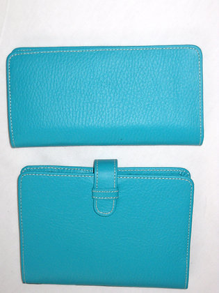 Teal Leather Journal - 2Pc Set