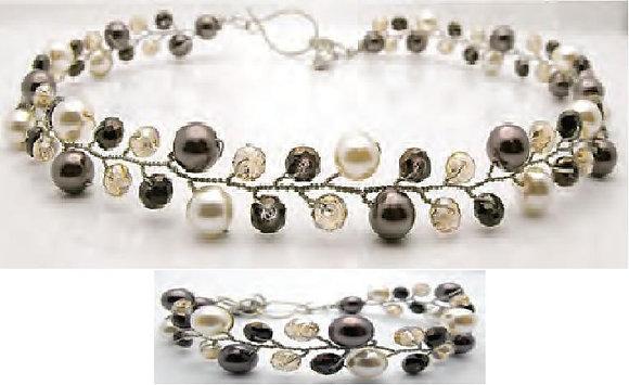 Plum-Star Necklace Set