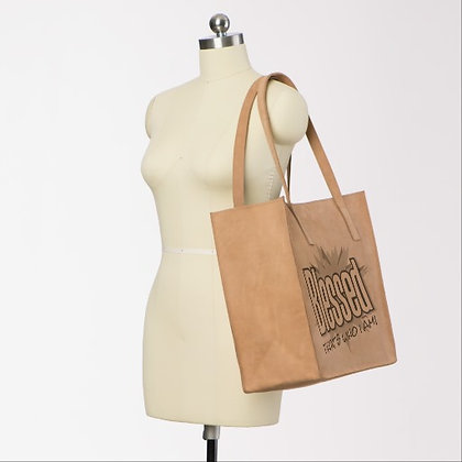 Blessed Leather Tote