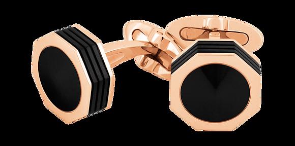 The Montegrappa Nero Uno Rose Gold Cufflinks