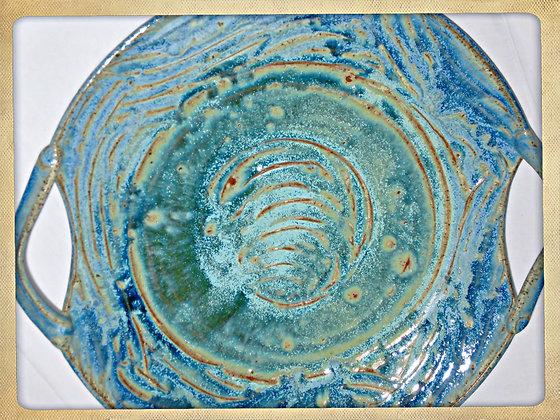 Brush-Blue Platter