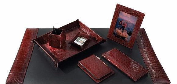 Executive 7 Pcs Leather Desk Set