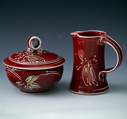 Red Strides Serving Dish Bowl & Cover