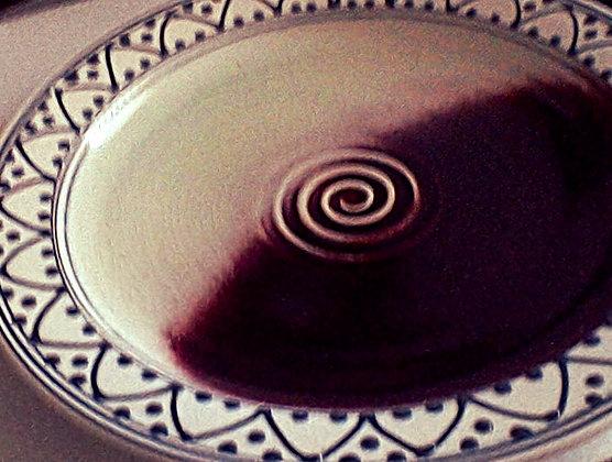 Decorative Red-White Serving Platter