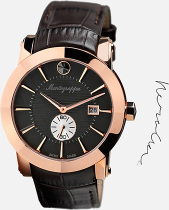 Montegrappa 44 Nero Uno Leather Watch