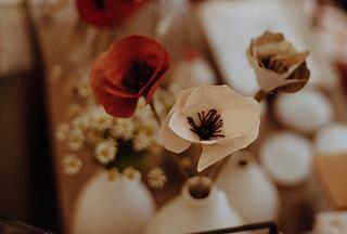 Fleur en papier pour décoration intérieur made in france fabriquées par Diane Cornu - Horticulture papier