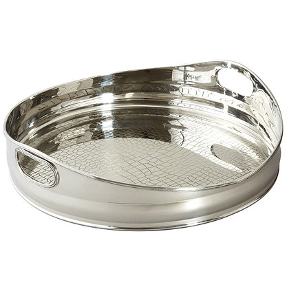 Textured Stainless Steel Tray