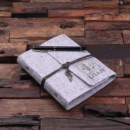 Felt Journal Gift Set