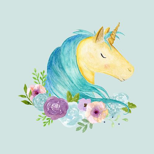 Smiling Unicorn Print (PHYSICAL)