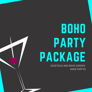 The Cocktail Queen Boho Hens Party Package