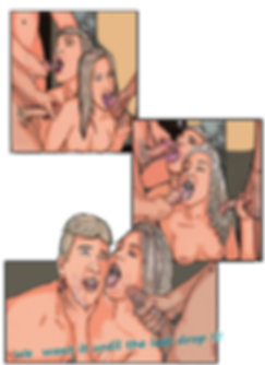 bisex couple gangbang in bathroom