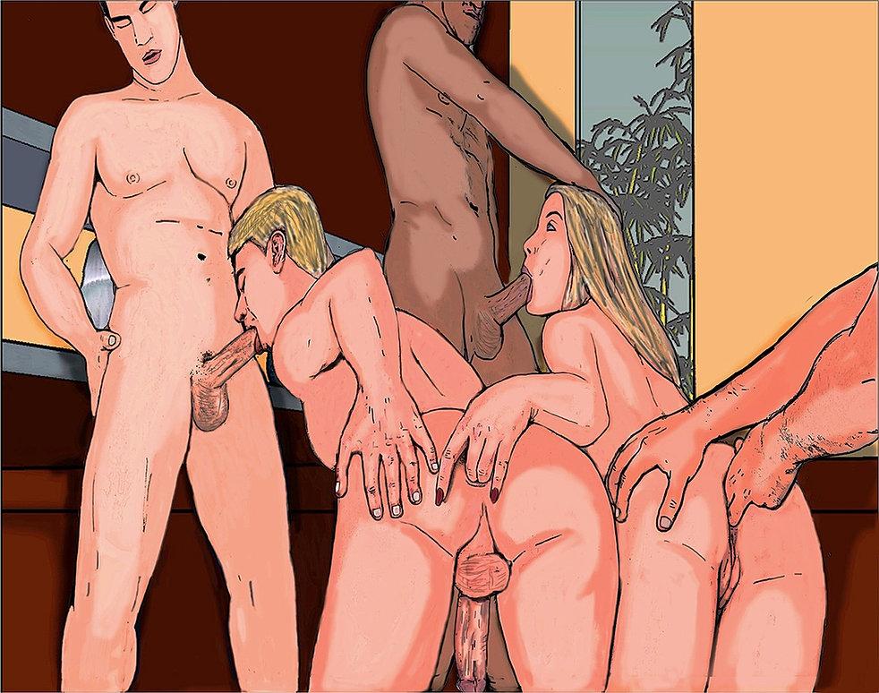 Bisexual orgy toons 14