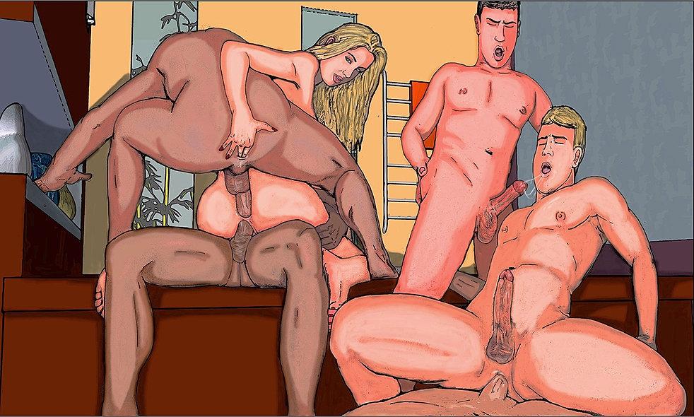 Бисекс порнокомиксы