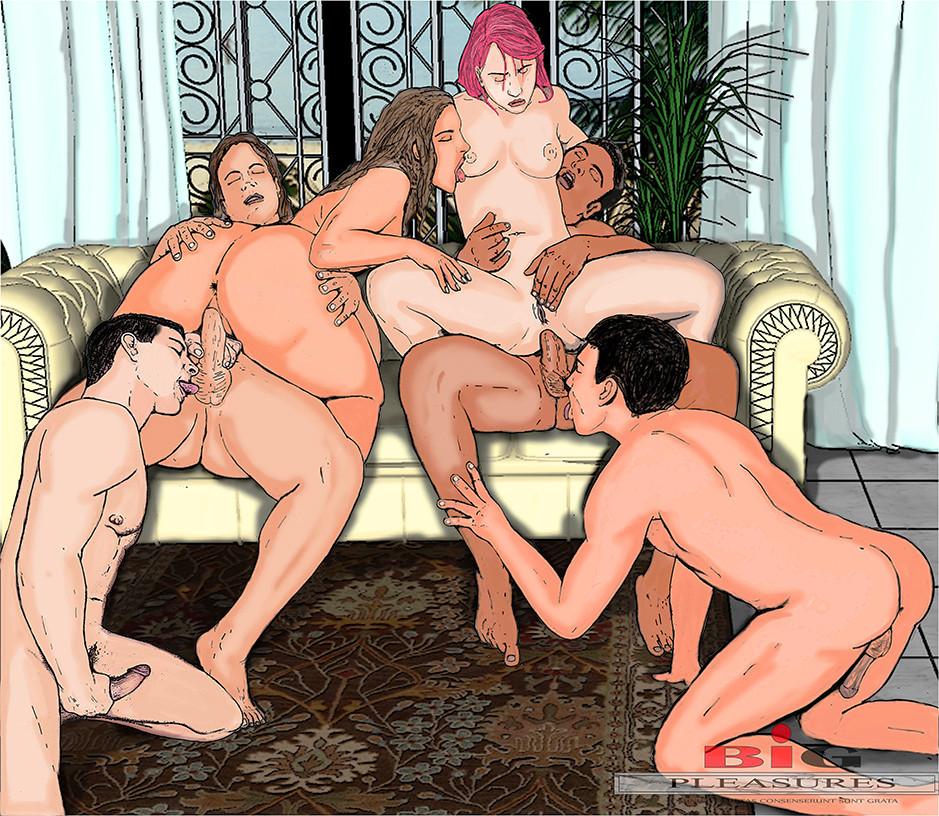 Порно Рисунки Группа