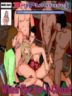 bisex couple gangbanged in a pool table