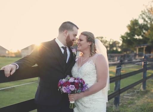 Kristen and Byran's Rustic Fall Wedding at Plantation Farms  Byron, Georgia