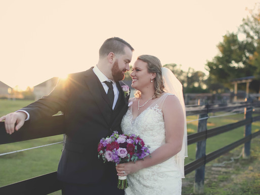 Kristen and Byran's Rustic Fall Wedding at Plantation Farms  Byron, Georgia