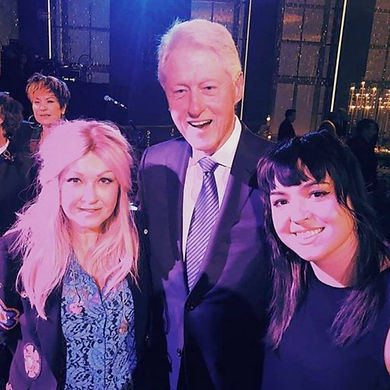 Cyndi, Bill Clinton and Caitlin.jpg