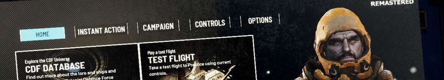 Screenshot of main menu (home)