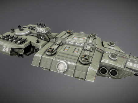 Sci-fi Carrier with 3 turret types released!