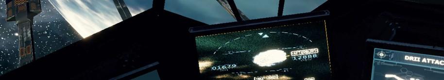 Screenshot of scramble mode - heavy starfighter