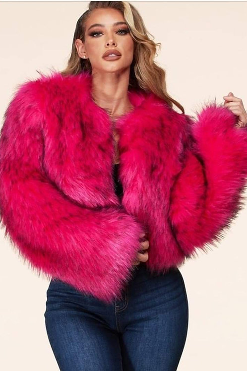 Haute' Pink Fur Jacket