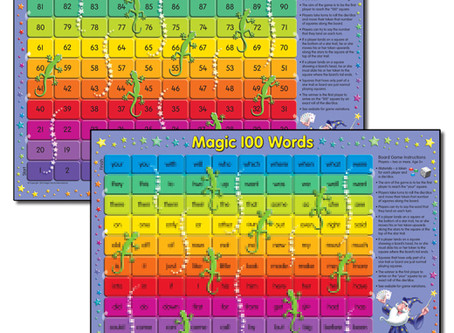 Magic 100 Words and Numbers Board Games