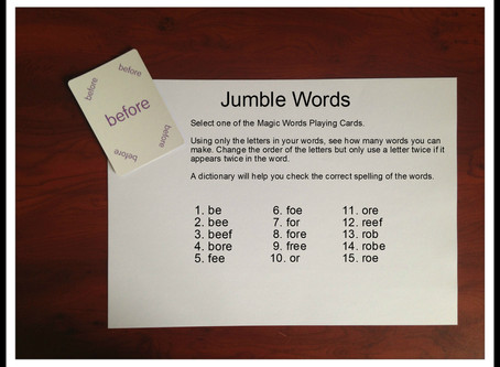Play Jumble Words