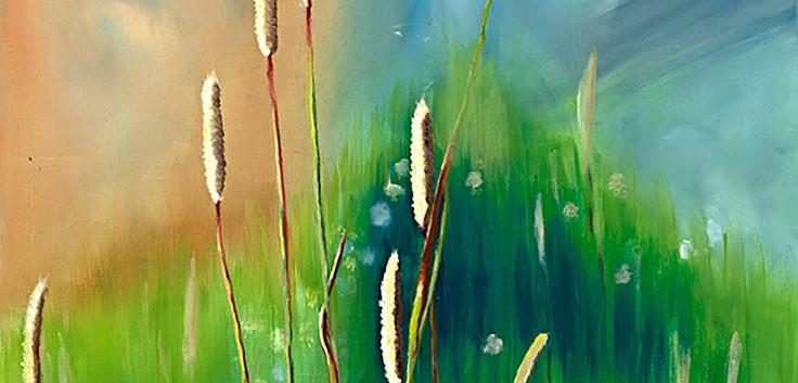 Blooming Yellowstone Grass