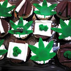 Cannabis Theme Cupcakes