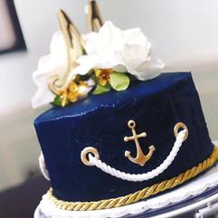 Navy Anniversary Cake