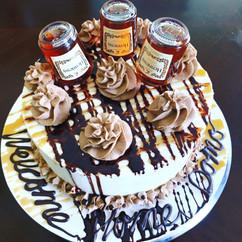 Orange Vanilla Hennessy Cake