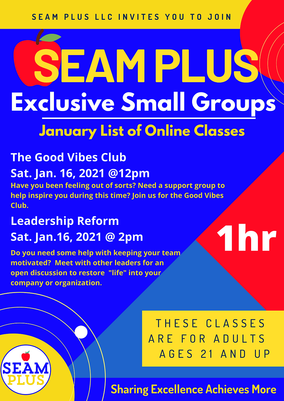 SEAM Plus Courses January 2021.png